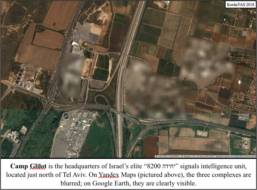 Russian Mapping Service Accidentally Reveals Locations Of Israeli and Turkish 'Secret' Military Facilities