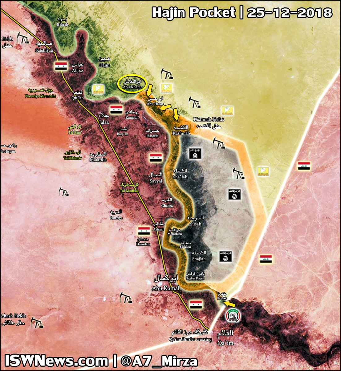 SDF Forces Liberate Key Village In Euphrates Valley And Kill More Than 200 ISIS Fighters (Map)