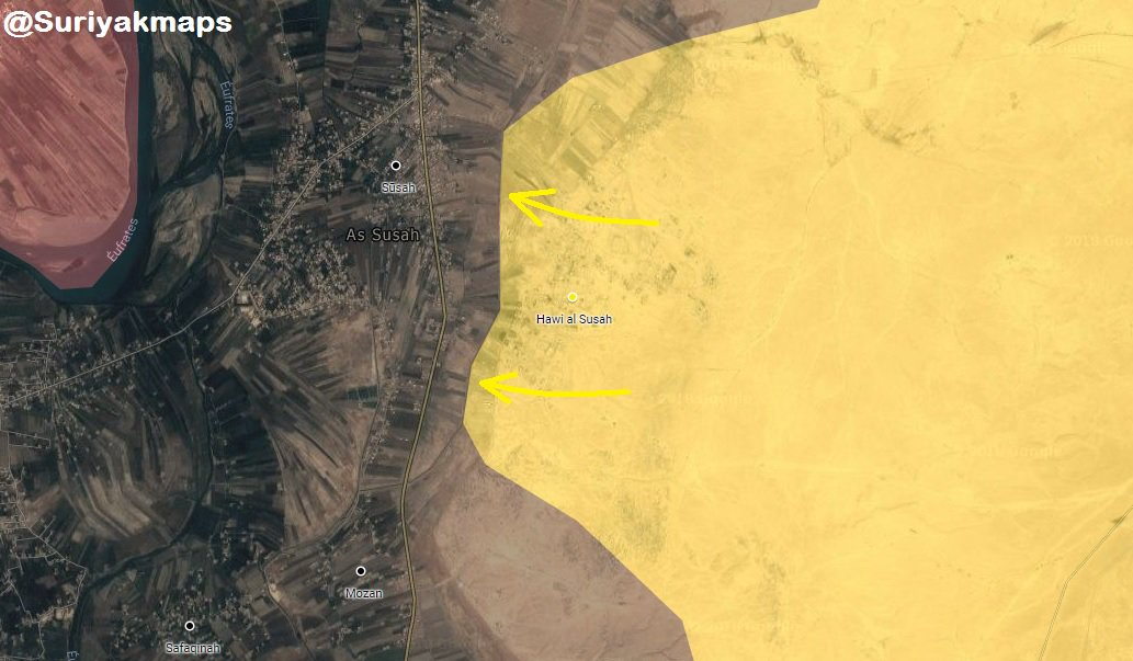 US-led Coalition Intensifies Strikes On Remaining ISIS Positions In Euphrates Valley (Maps)