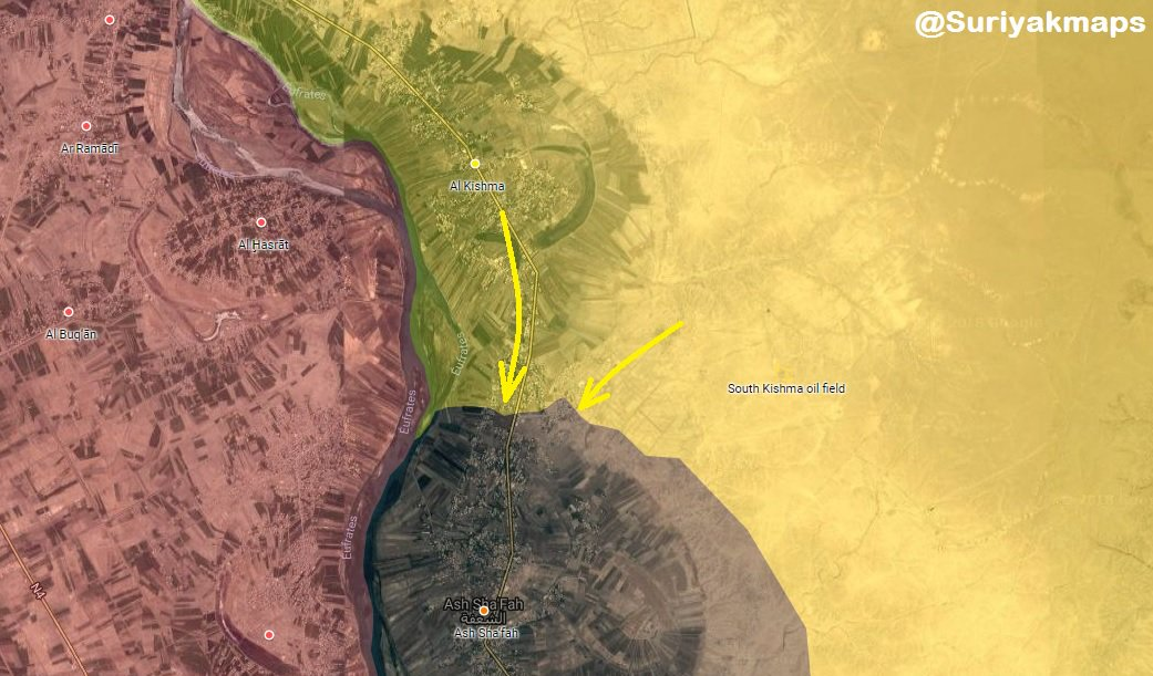 SDF Fighters Storm Another Key Town In Euphrates Valley (Map)