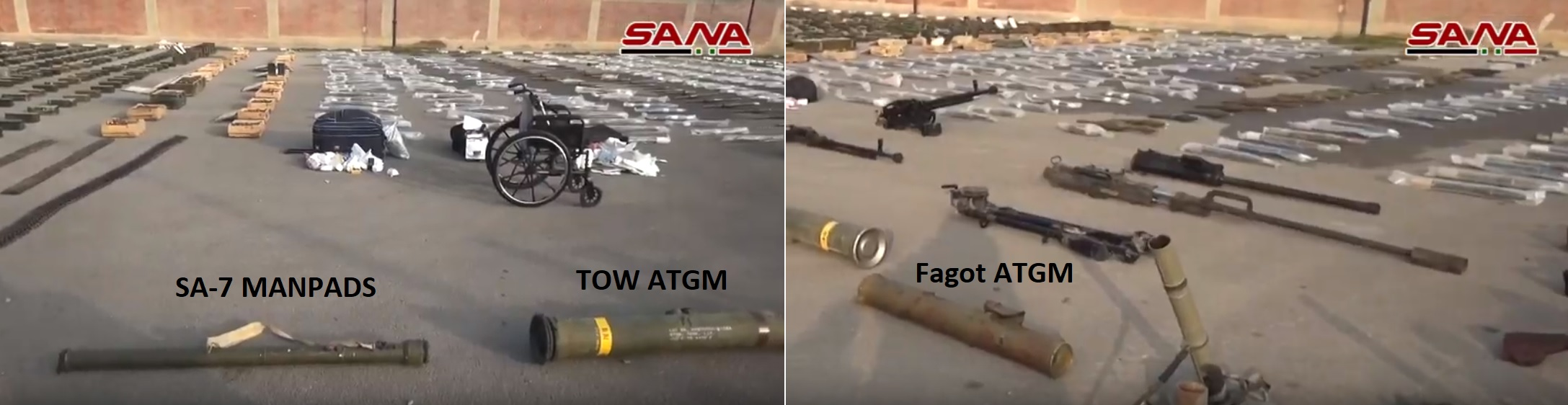 Army Uncovers Loads Of Weapons Including TOW Missiles And MANPADS In Southern Syria (Video)
