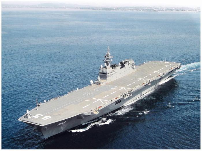 """Japan To """"Defensively"""" Retrofit JS Izumo Helicopter Destroyer For F-35 Jets"""