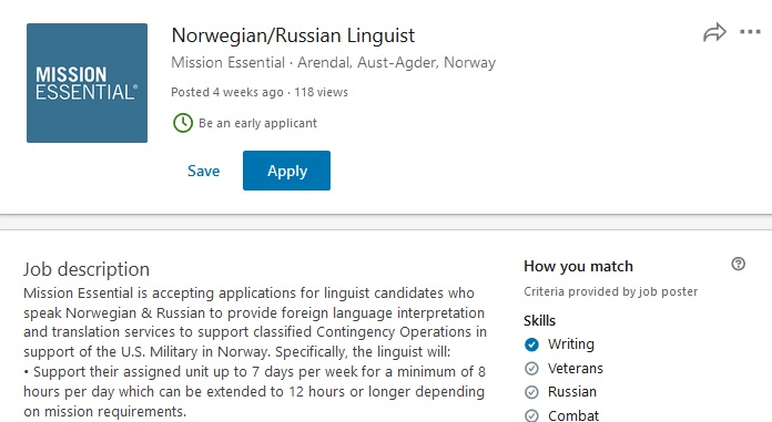 US Military Hiring Russian Linguists To Support Troops Deployed Near Russian Borders
