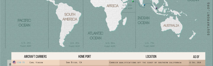 US Carrier Strike Groups Locations Map Archives -