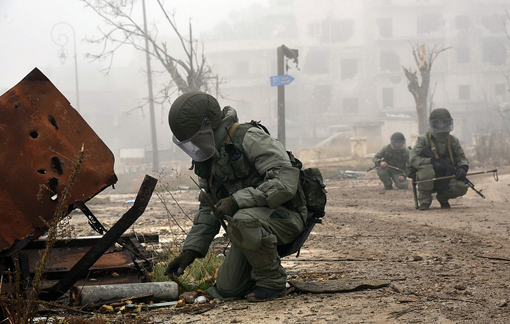 Russian Military Police Demine Field In Syria's Daraa Province