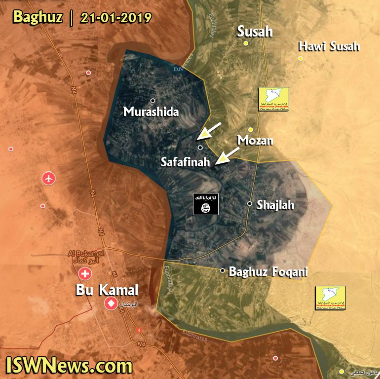 US-backed Forces Capture Mozah, Advance On Safaqinah In Euphrates Valley (Map)