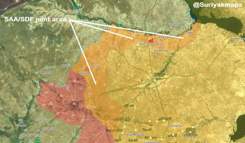 Map Update: Syrian Army, Russian Military Police Expand Presence In Area North Of Manbij