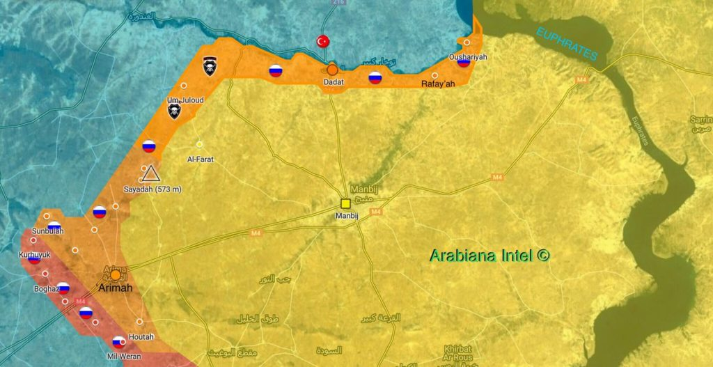 Map Update: Positions Of Russian Military Police And Syrian Army Near Manbij