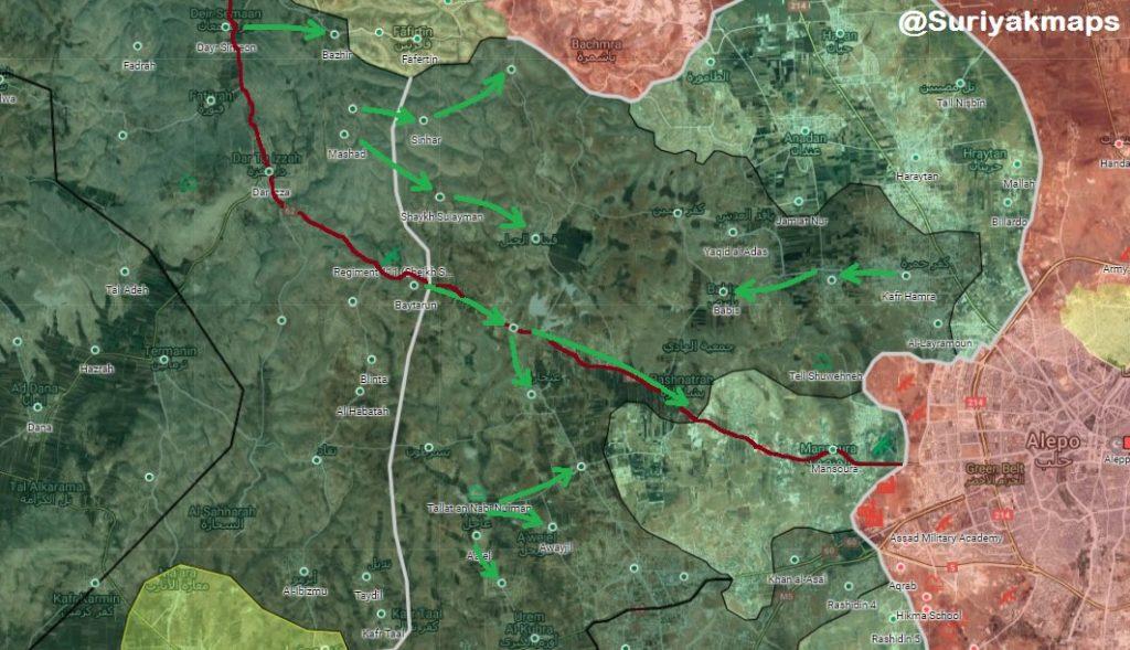 Map Update: Hayat Tahrir al-Sham Captured All Positions Of Nour Al-Din Al-Zenki In Western Aleppo
