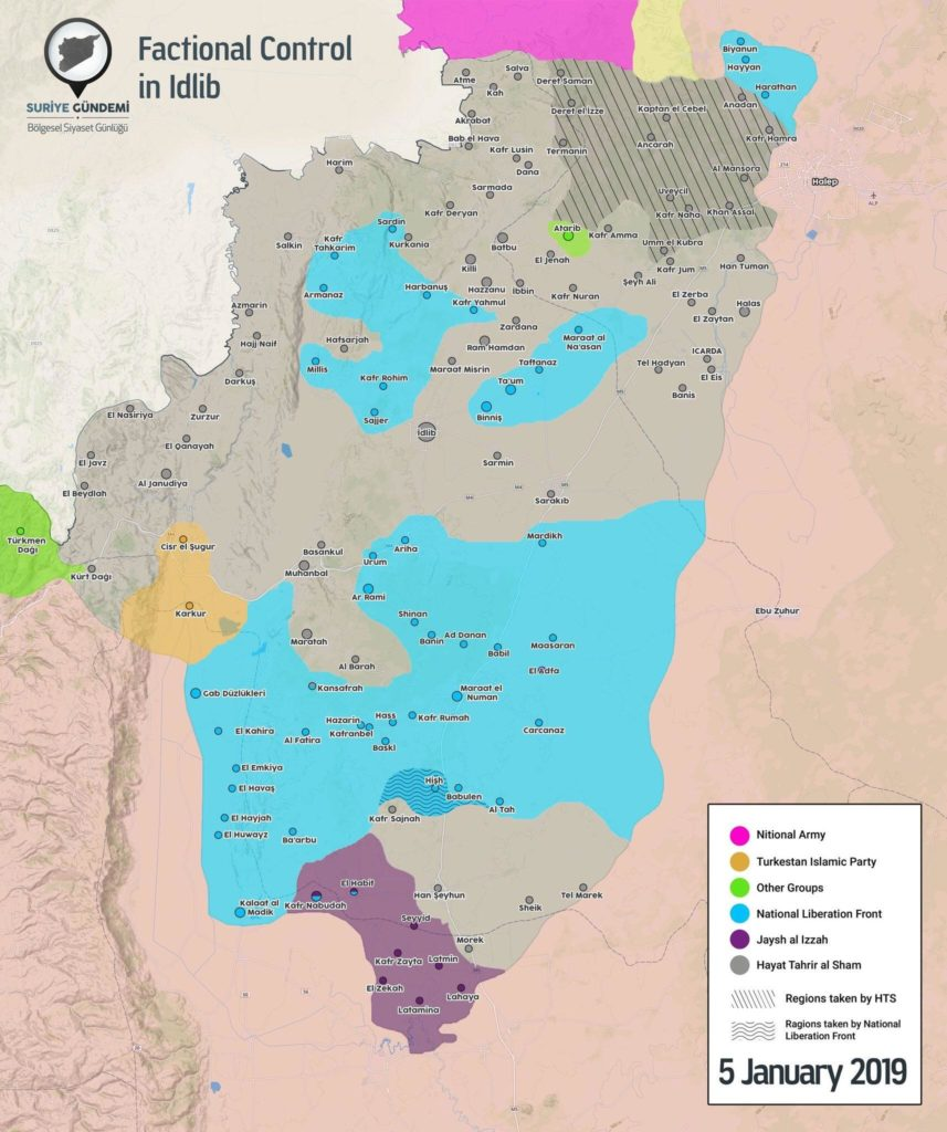 In Maps: Hayat Tahrir al-Sham's Expansion Within Syria's Idlib De-Escalation Zone