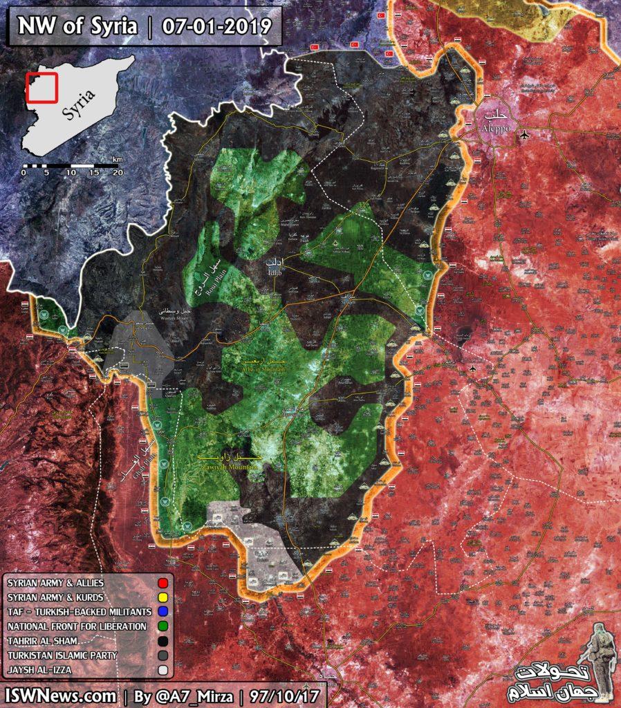 Map Update: Hayat Tahrir al-Sham Controls Almost 60% Of Idlib De-Escalation Zone
