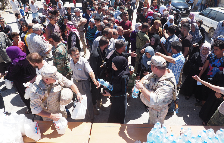Russian Reconciliation Center Delivers Humanitarian Aid To Syria's al-Suwayda Province