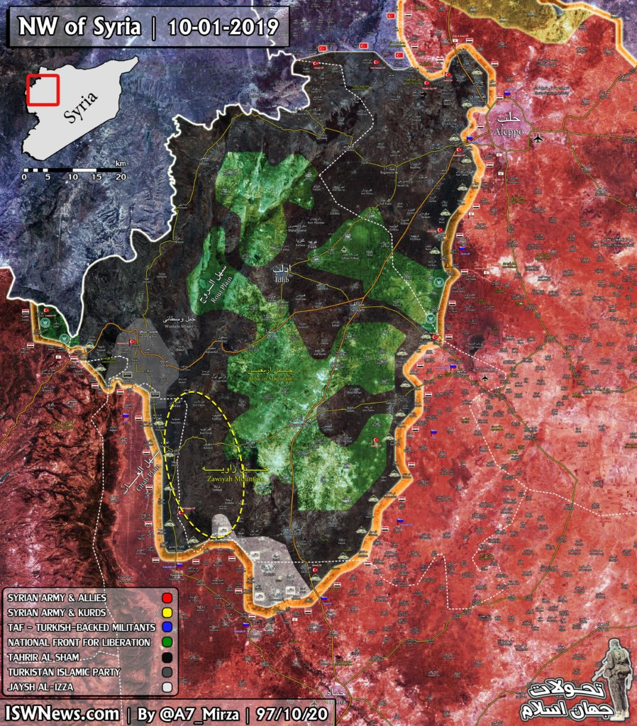 Map Update: Hayat Tahrir al-Sham Gets Control Of Most Of 'Idlib Demilitarized Zone'