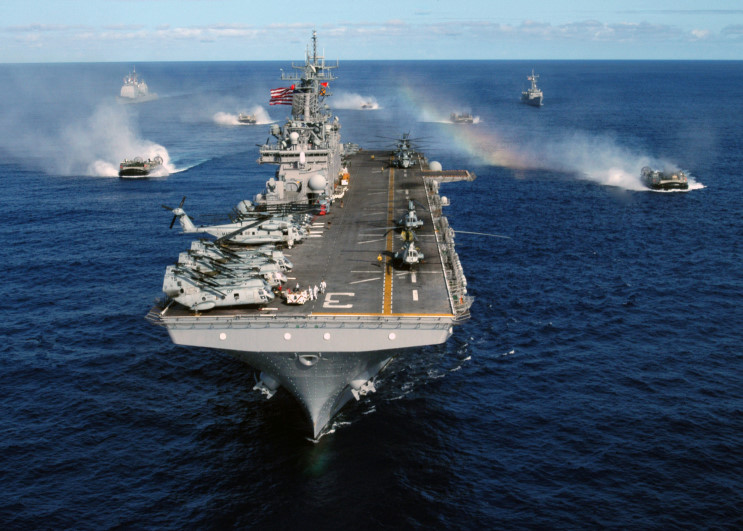 US Amphibious Ready Group Led By USS Kearsarge Deploys Near Syria: WSJ