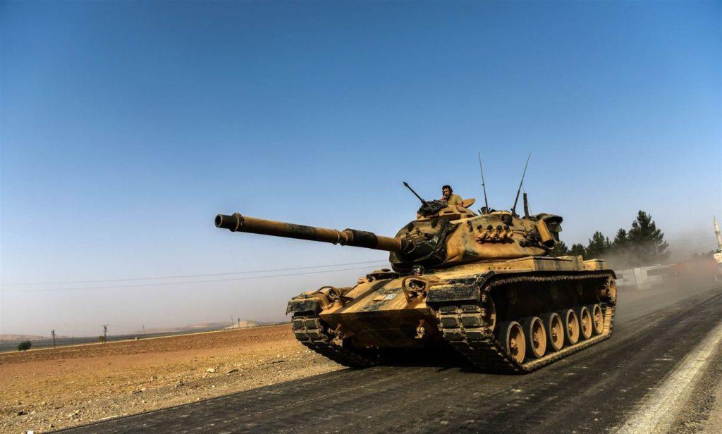 Turkish Military Conducts Battle Tank Drills On Border With Syria's Idlib