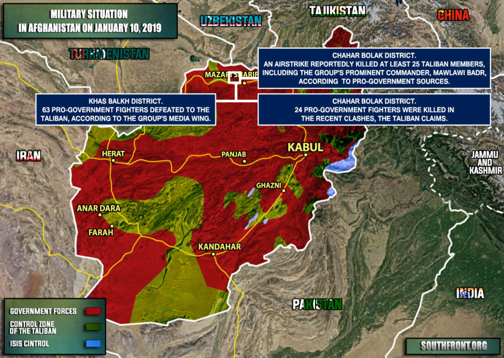 Military Situation In Afghanistan On January 10, 2019 (Map Update)