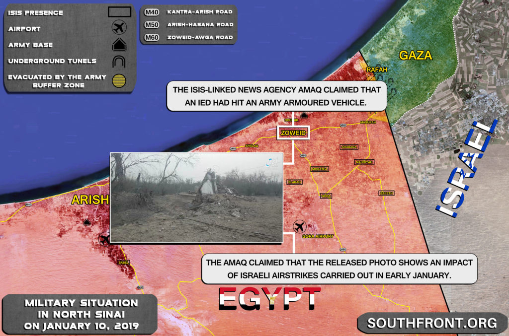 ISIS Claims Israel Bombed Its Positions In Egypt's North Sinai (Map Update)