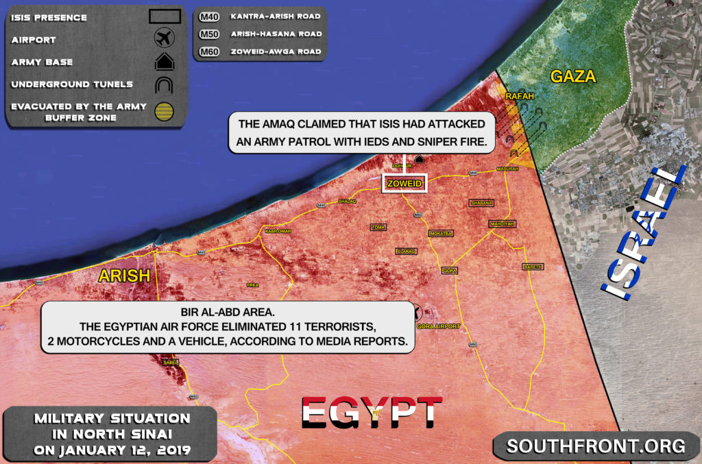 Egyptian Air Force Eliminates 11 Terrorists In North Sinai (Map Update)