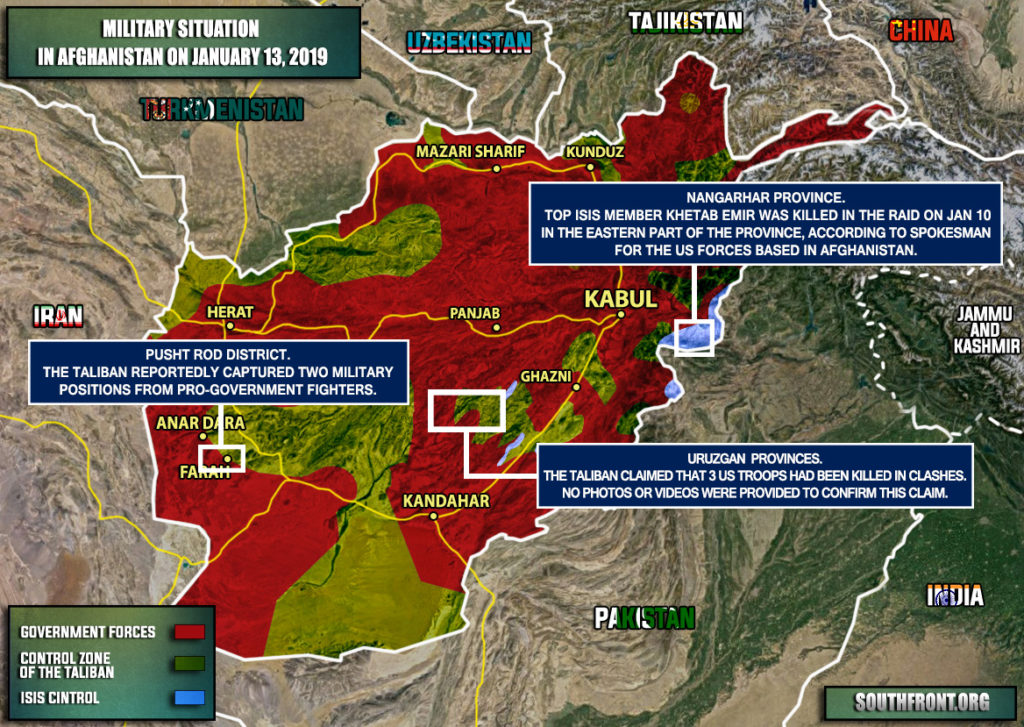 Military Situation In Afghanistan On January 13, 2019 (Map Update)