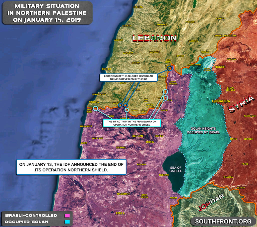 Map Update: Israel Completes Operation Northern Shield On Border With Lebanon