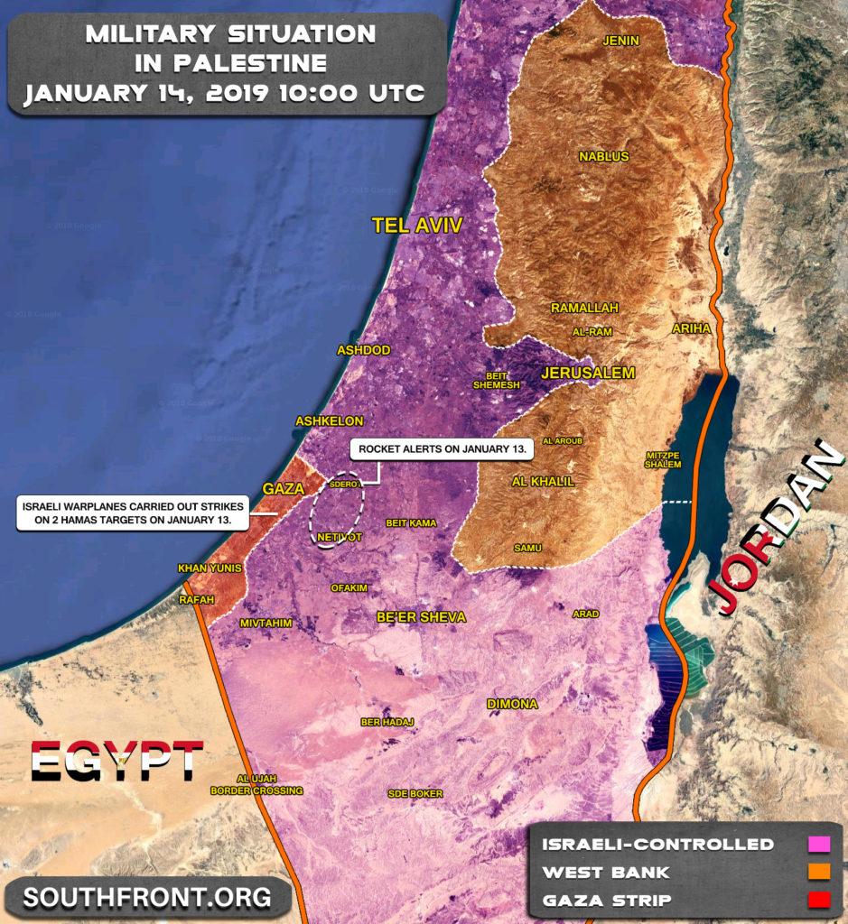 Map Update: Israeli Strikes On Gaza Strip On January 13