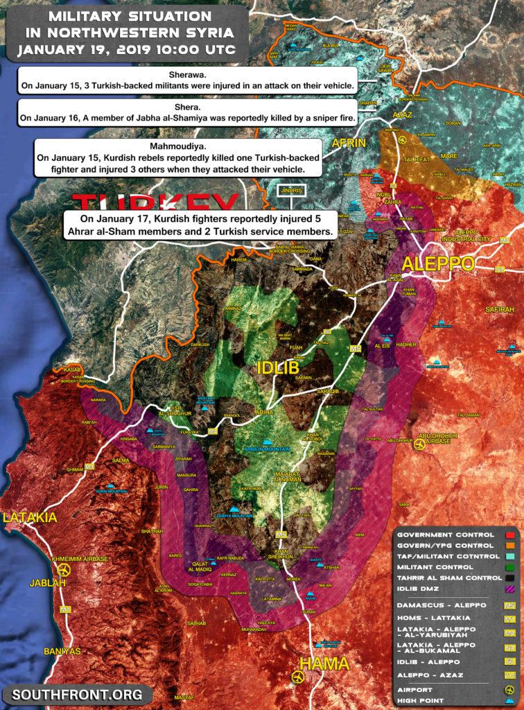 Map Update: Kurdish Rebels Attack Turkish Proxies In Syria's Afrin