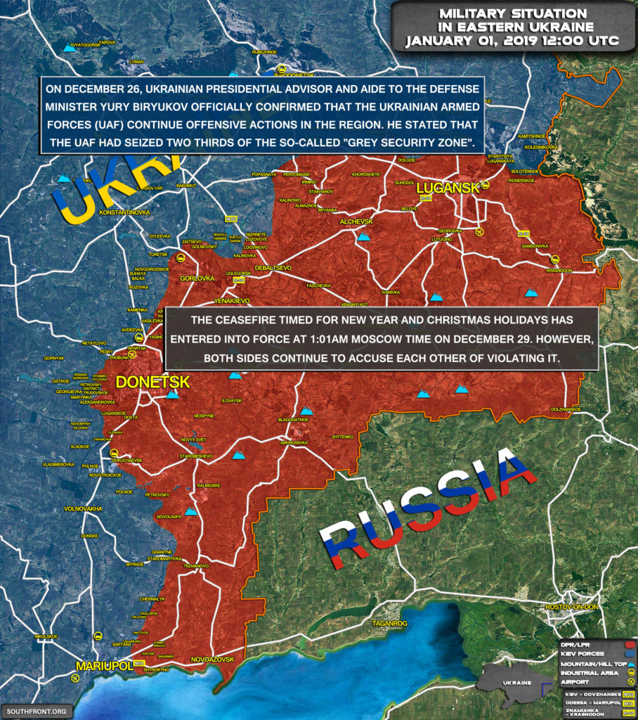 """Ukrainian Forces Take Control Over Two Thirds Of """"Gray Zone"""" In Donbass: Official"""