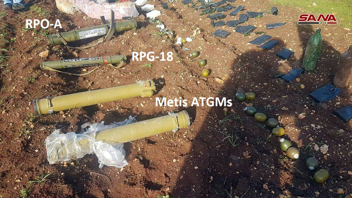 Syrian Army Uncovers TOW Missiles And Other Weapons In Northern Homs (Video, Photos)