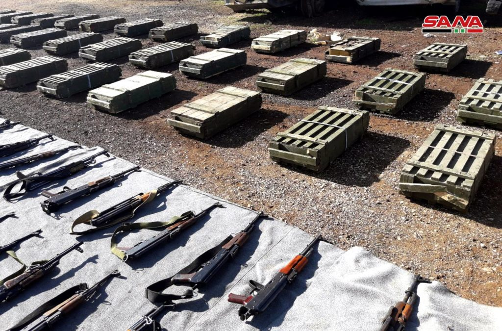 In Photos: Syrian Forces Discover More Weapons, Ammunition Left Behind By Militants In Damascus, Quneitra