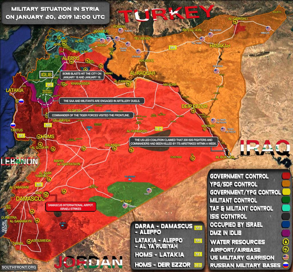Syria Map Update: Israeli Strikes On Damascus, Other Developments