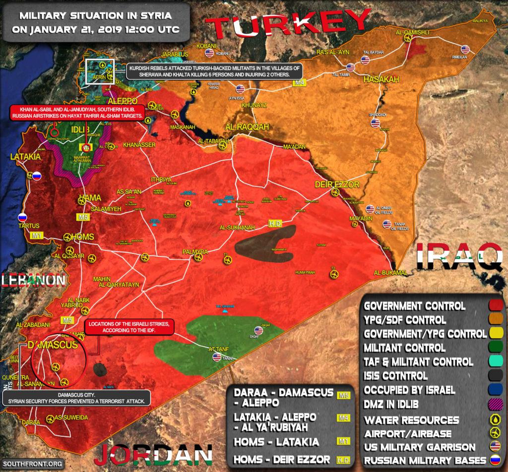 Vojenská Situácia V Sýrii O Január 21, 2019 (Aktualizácia Máp)
