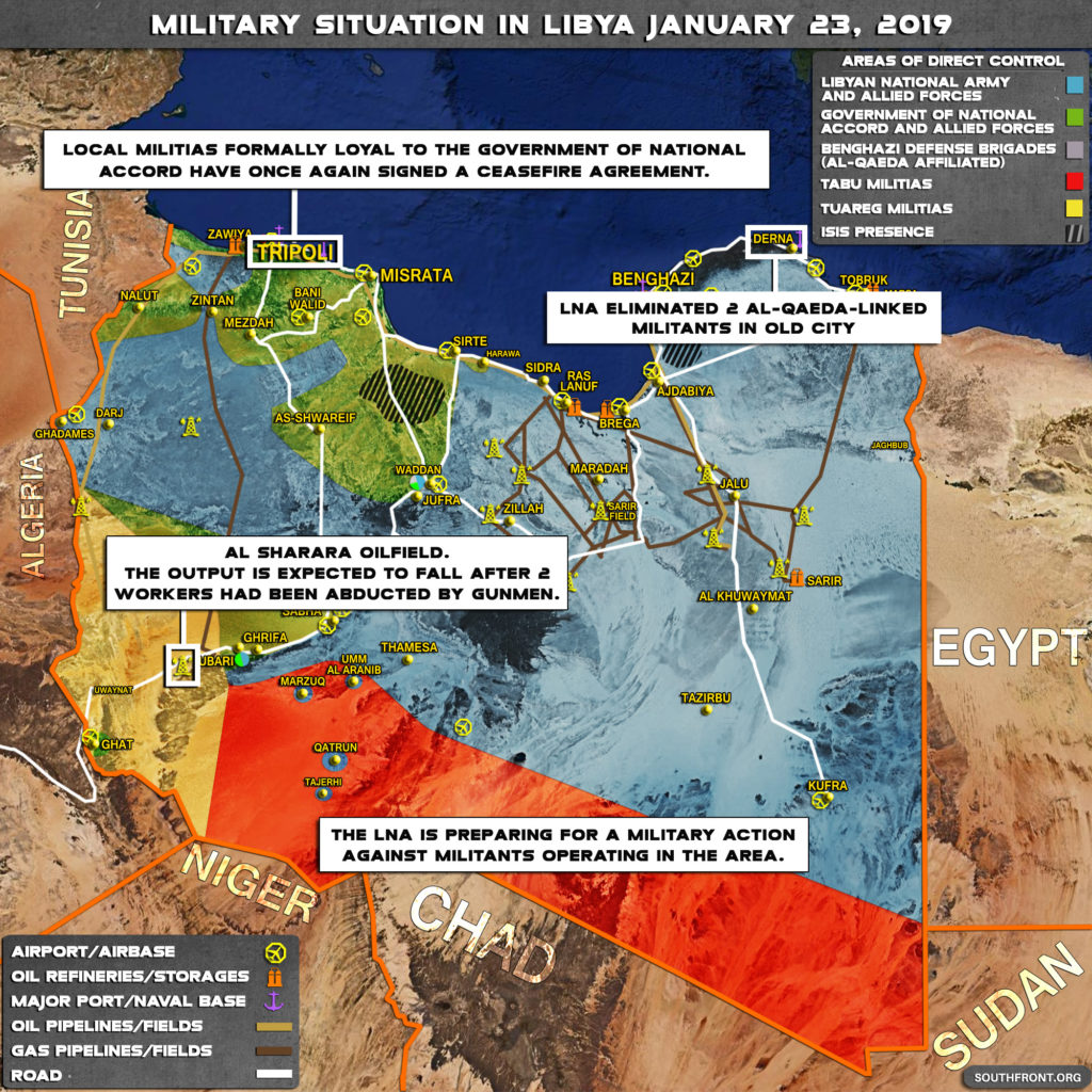 Brief Look At Current Military Situation In Libya (Map Update)
