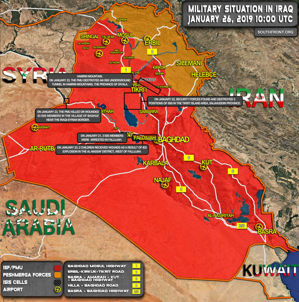 Military Situation In Iraq On January 26, 2019 (Map Update)