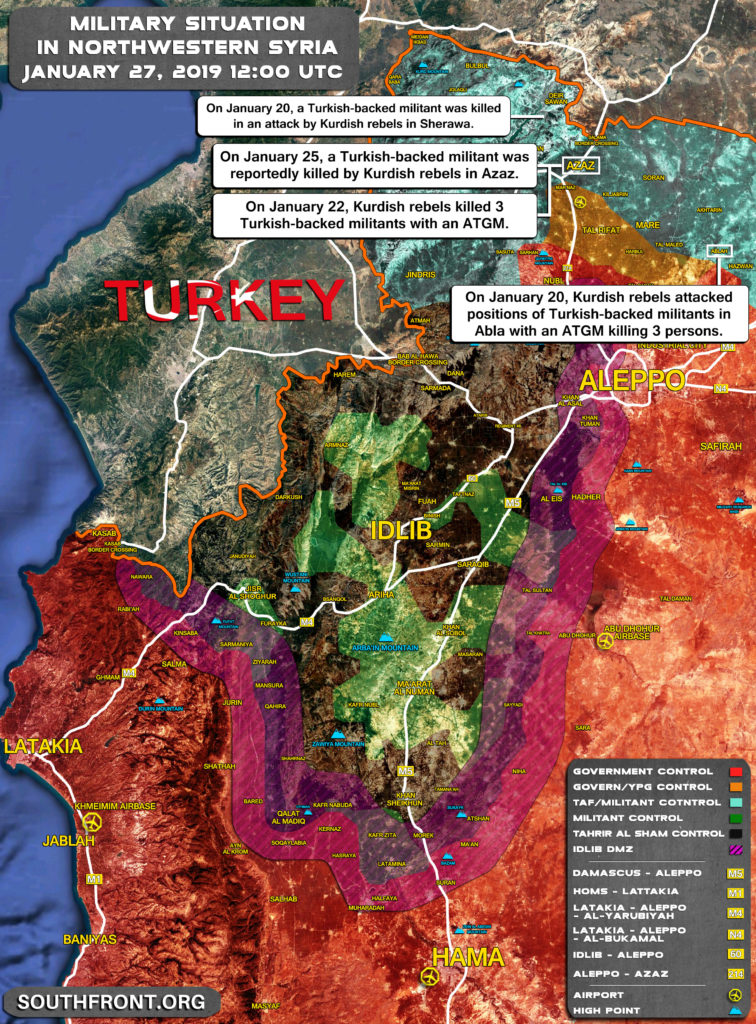 Overview Of Recent Kurdish Attacks On Turkey-led Forces In Northern Syria (Map, Video)