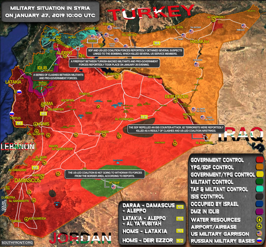 Military Situation In Syria On January 27, 2019 (Map Update)