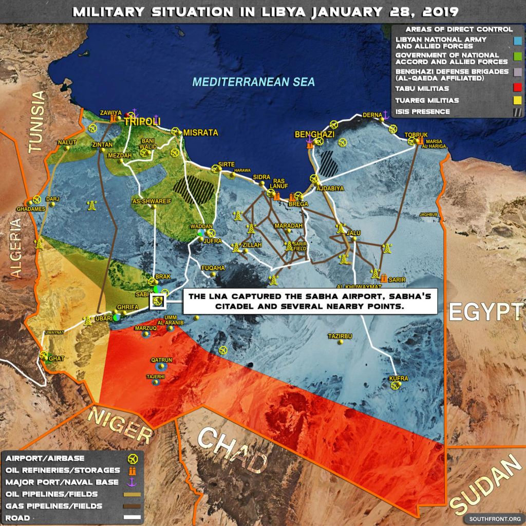 Map Update: Libyan National Army Makes Gains In Southwestern Part Of Country