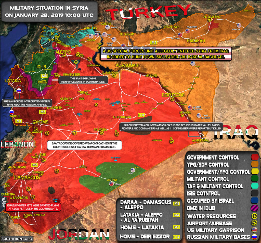 Military Situation In Syria On January 28, 2019 (Map Update)