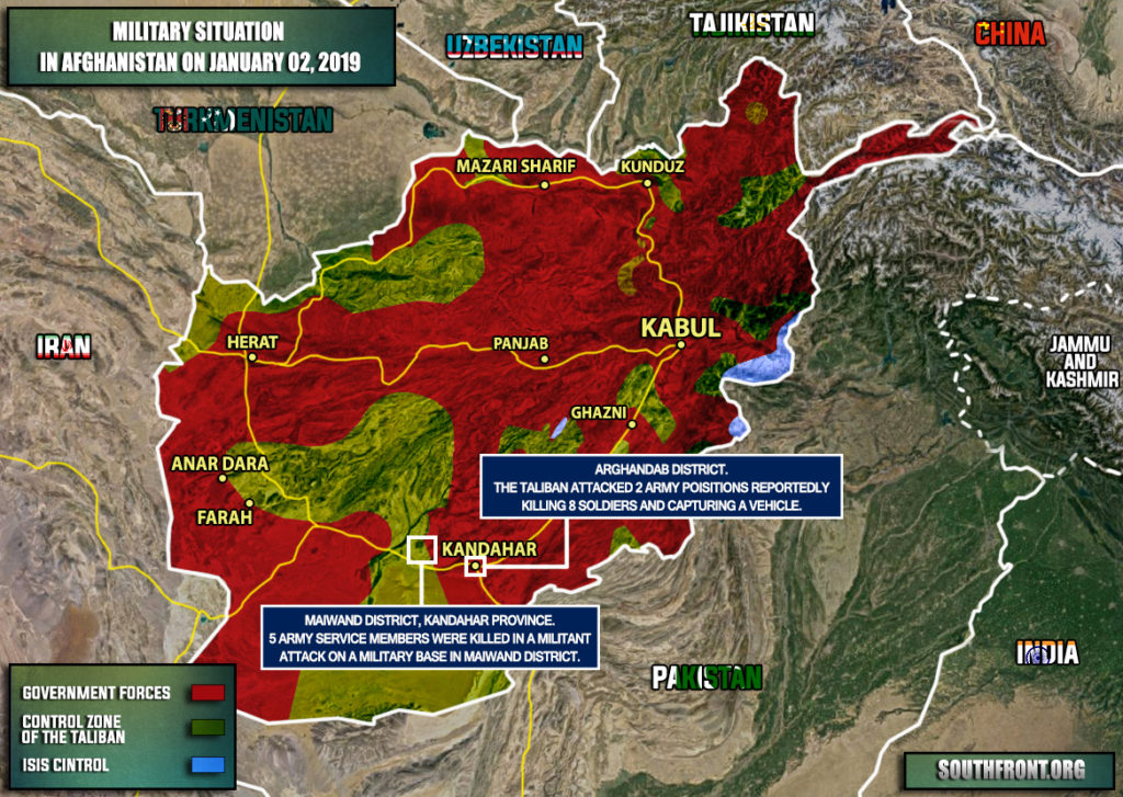 Military Situation In Afghanistan On January 2, 2019 (Map Update)