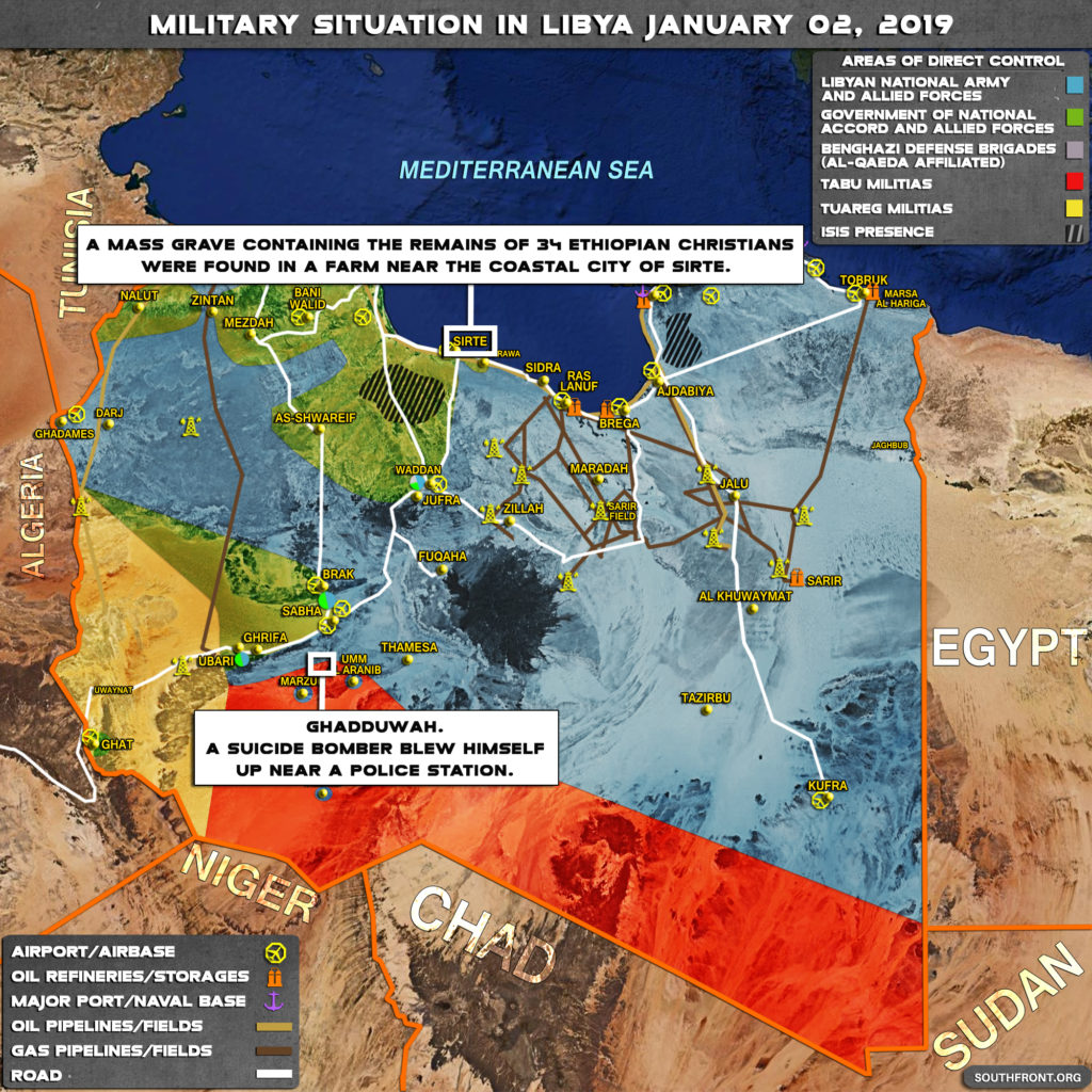 Two Suicide Bombings Hit Ghadwa In Southern Libya (Map)