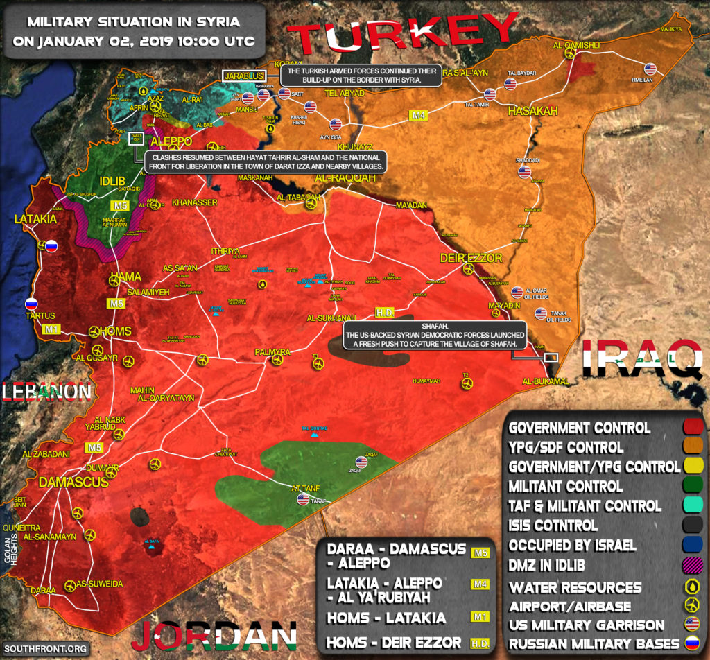 Military Situation In Syria On January 2, 2019 (Map Update)