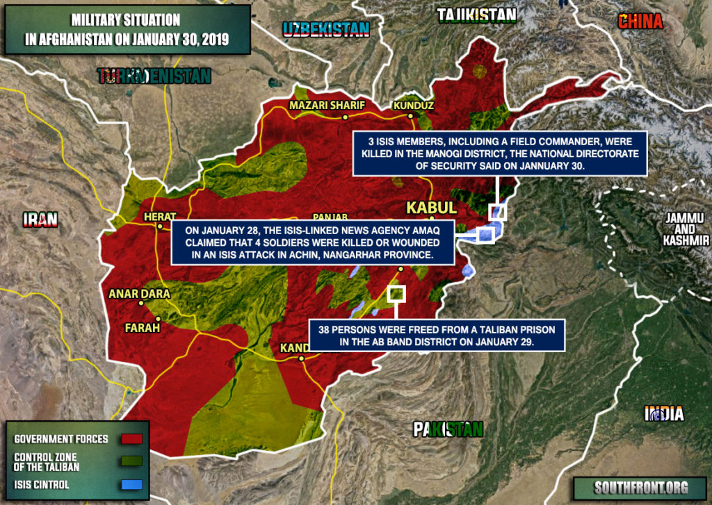 Military Situation In Afghanistan On January 30, 2019 (Map Update)