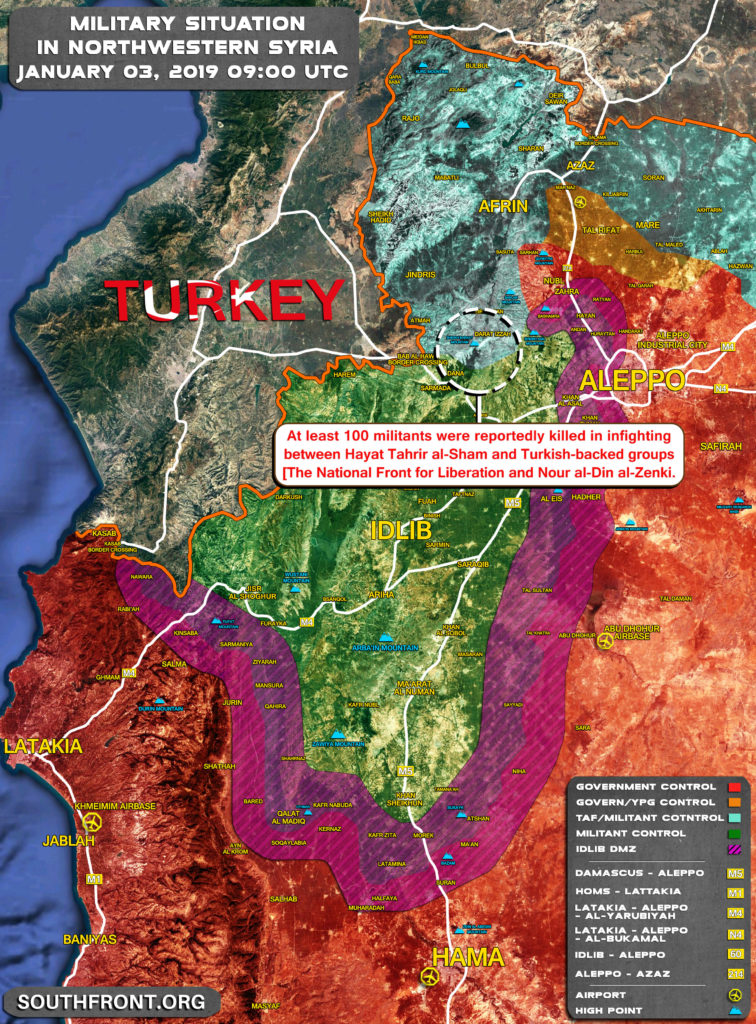 Turkish-backed Militants Deploying Reinforcements For Battle Against Hayat Tahrir al-Sham In Western Aleppo (Video, Map)