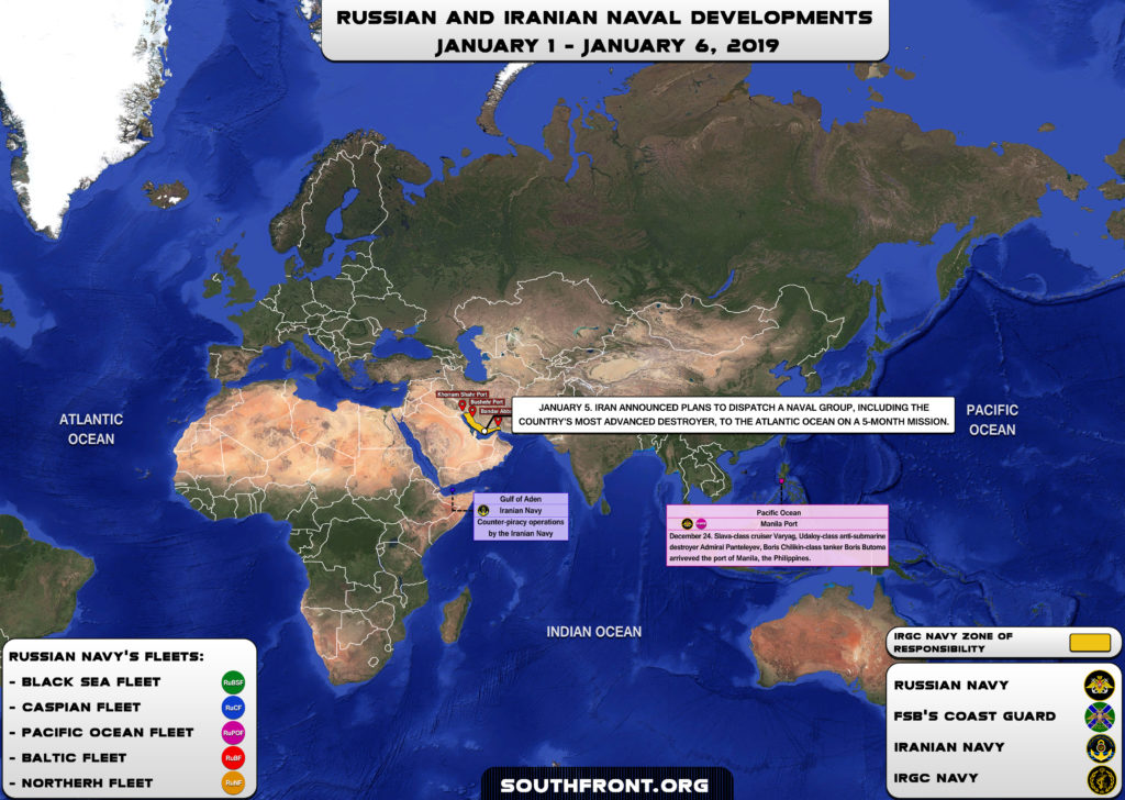 Iranian, Russian Naval Developments January 1-6, 2019 (Map Update)