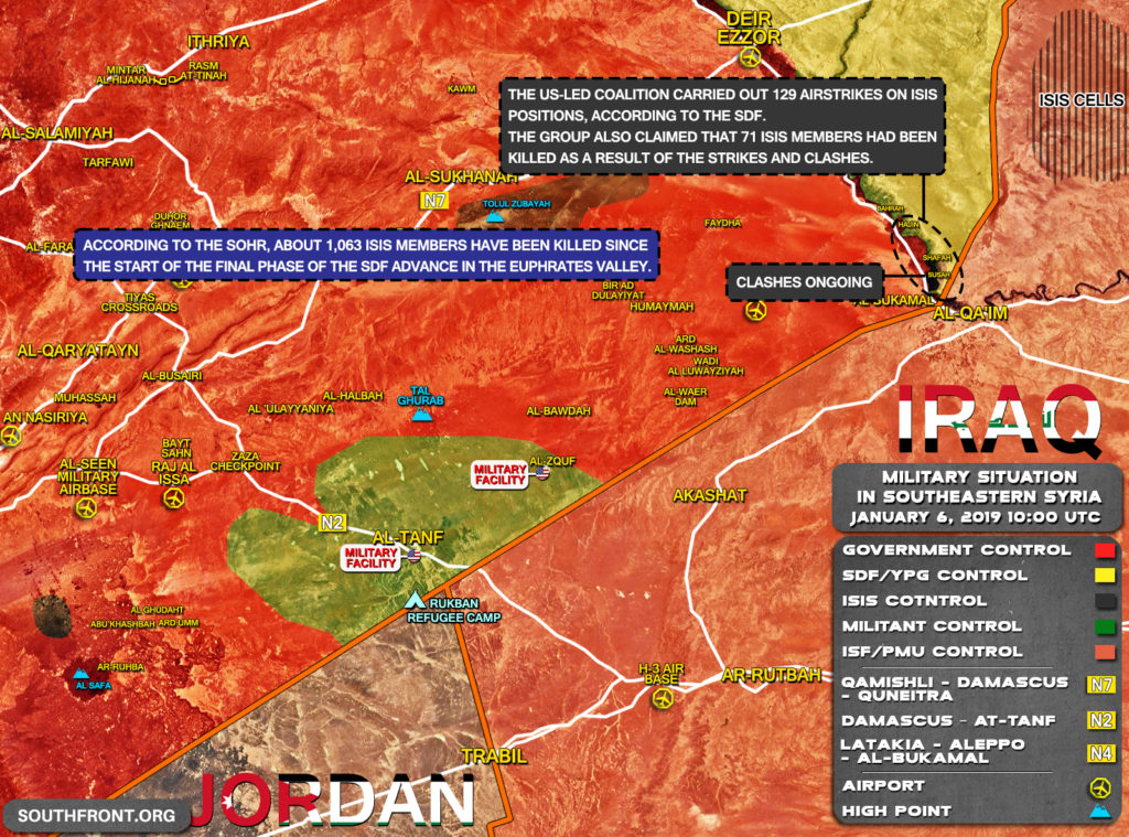 In Maps: Military Situation In Southeastern Syria On January 5-6, 2019