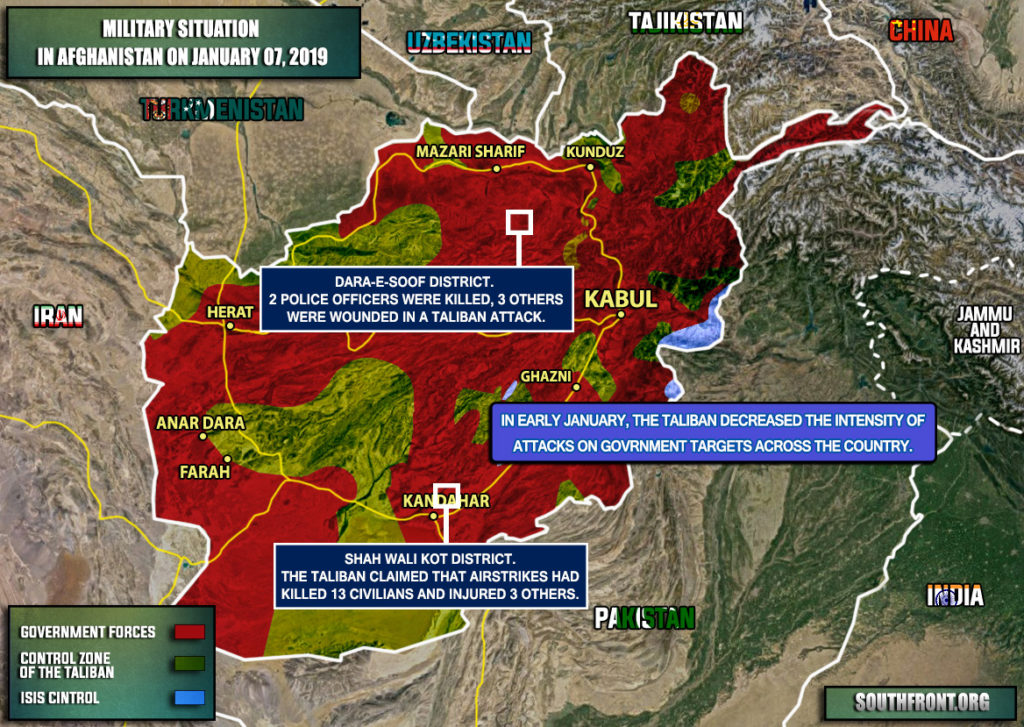 Military Situation In Afghanistan On January 7, 2019 (Map Update)
