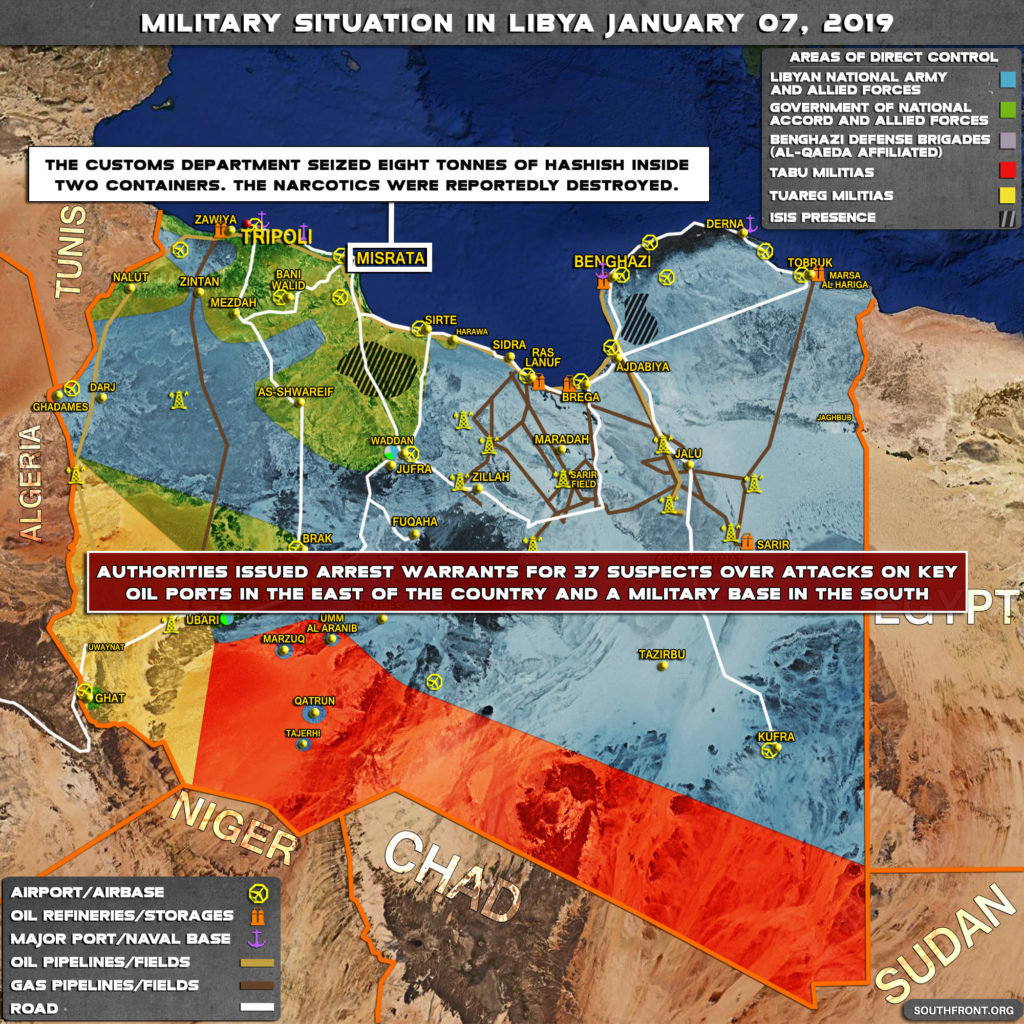 Miltiary Situation In Libya On January 7, 2019 (Map Update)