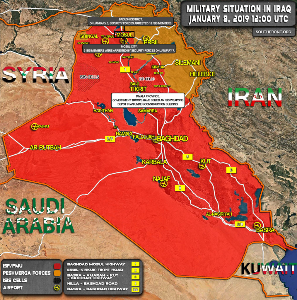 Military Situation In Iraq On January 8, 2019 (Map Update)