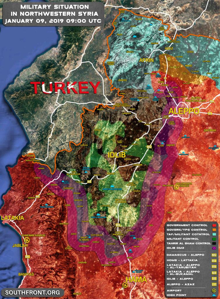 Map Update: Hayat Tahrir al-Sham Expansion In Northwestern Syria