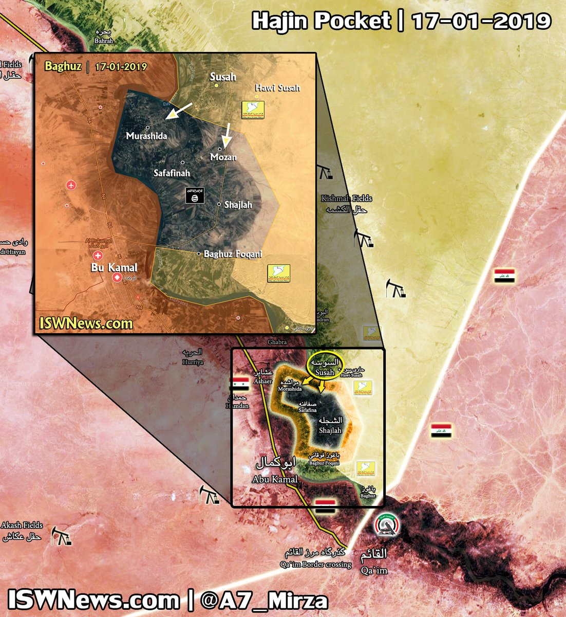 Terrorists In Euphrates Valley Suffer From Airstrikes. US-backed Forces Capture New Village (Map)