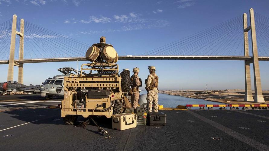 Photo: Anti-Drone Weapon Mounted On Buggy Protects US Navy Warship